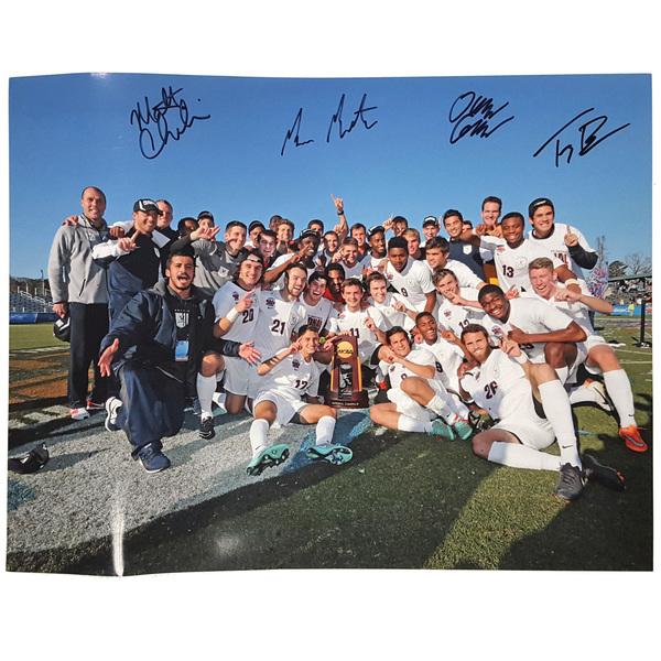"Photo of 2014 University of Virginia Men's Soccer National Championship Team Photo (11""x14"") Autographed B..."