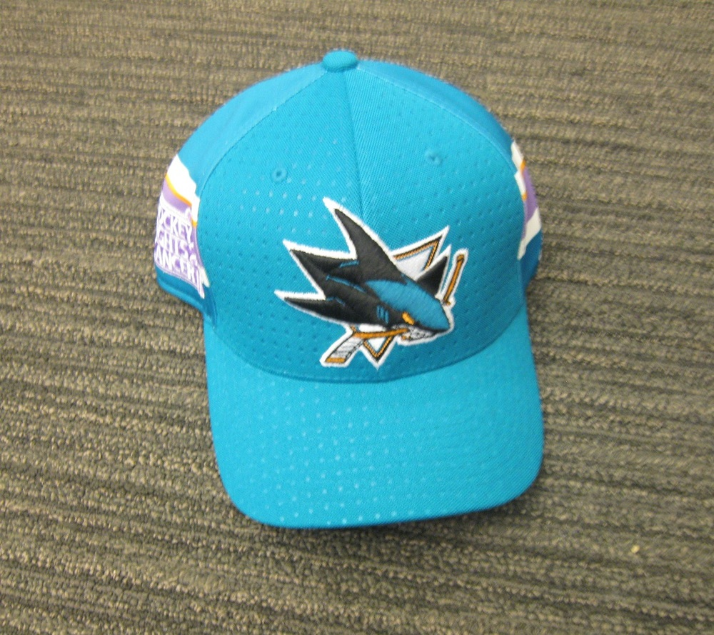Martin Jones 2017 HFC Player Cap from Player Media Tour - San Jose Sharks