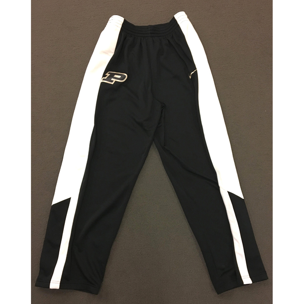 Photo of Purdue Sweat Pants Black Nike Button Down with White Side Stripe Size XL
