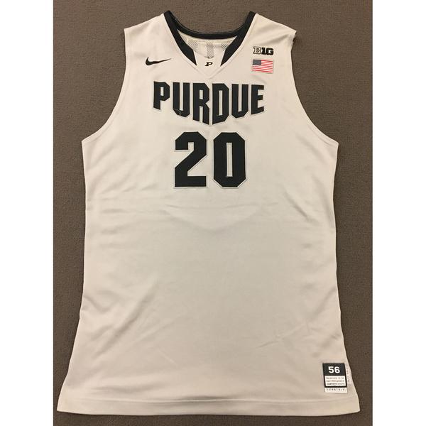 Photo of AJ Hammons #20 Purdue Men's Basketball 2012-13 Gray Jersey