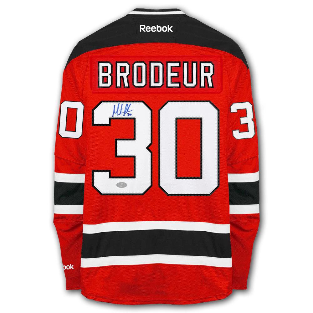 Martin Brodeur New Jersey Devils RBK Premier Autographed Jersey