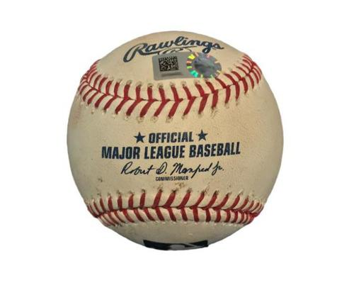 Photo of Game-Used Baseball from Pirates vs. Cardinals on 8/17/17 - Paul DeJong Hit by Pitch