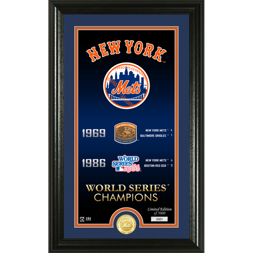 "Photo of Serial #1! New York Mets ""Legacy"" Bronze Coin Photo Mint"