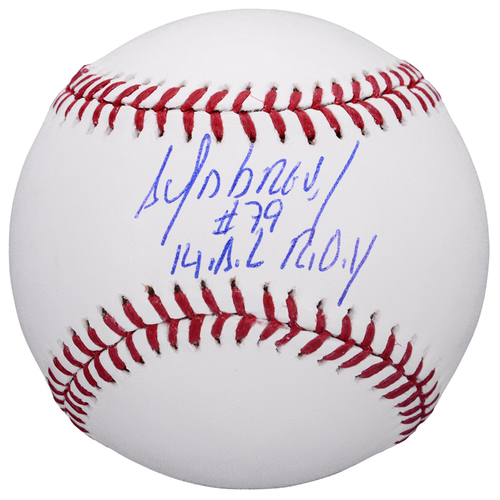 Photo of Jose Abreu Chicago White Sox Autographed Baseball with 14 ROY Inscription