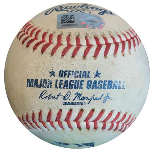 Photo of Game-Used Baseball from Pirates vs. Cardinals on 8/4/18 - Matt Carpenter Double