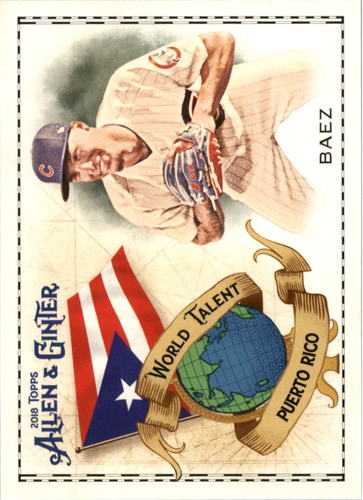 Photo of 2018 Topps Allen and Ginter World Talent #WT36 Javier Baez