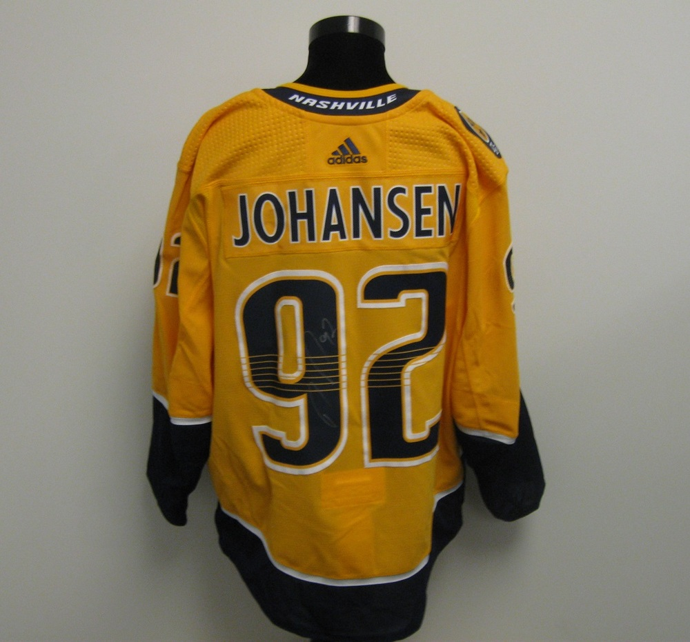 in stock 13934 2b813 Ryan Johansen Autographed Event Worn Jersey from 2018 Player ...