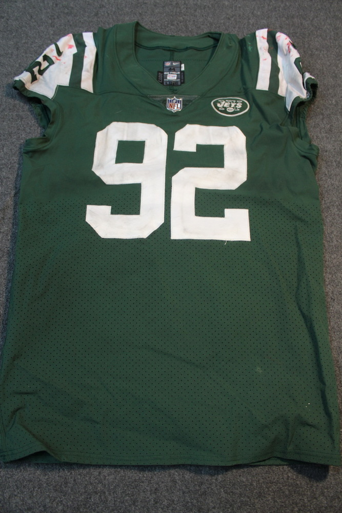 Crucial Catch - Jets Leonard Williams game worn Jets jersey (October 15 2017)