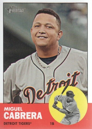 Photo of 2012 Topps Heritage #348A Miguel Cabrera