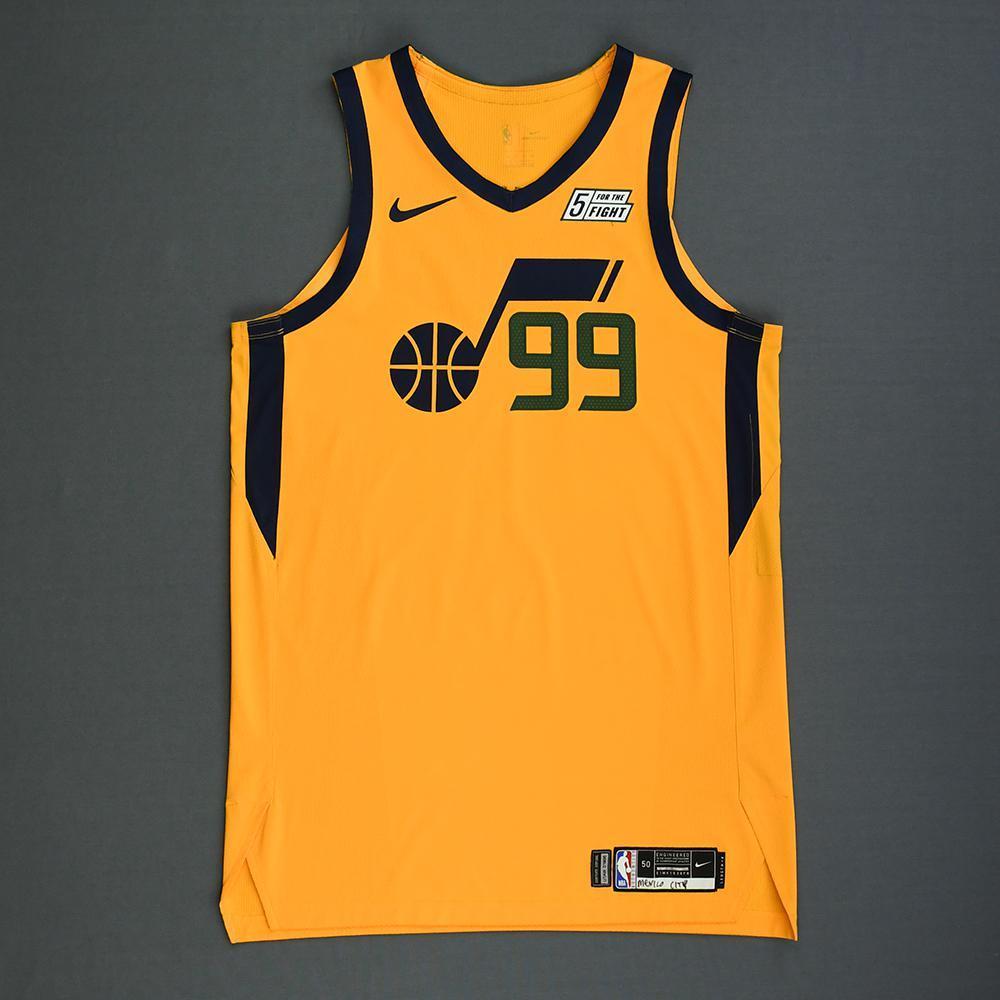 finest selection c60d8 3ed9a Jae Crowder - Utah Jazz - Mexico Games - Game-Worn Statement ...