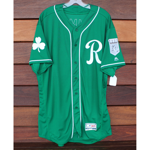 Photo of Team-Issued St. Patrick's Day Jersey: Kyle Zimmer (Size - 48)