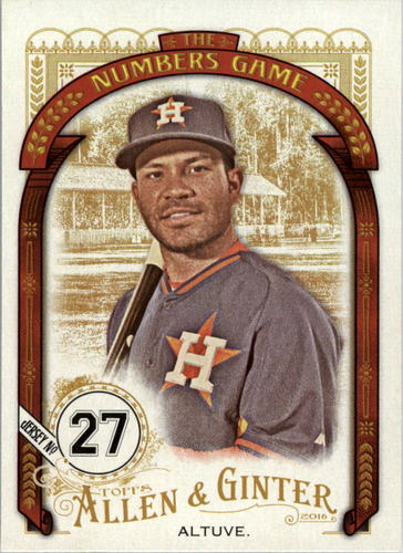 Photo of 2016 Topps Allen and Ginter The Numbers Game #NG52 Jose Altuve