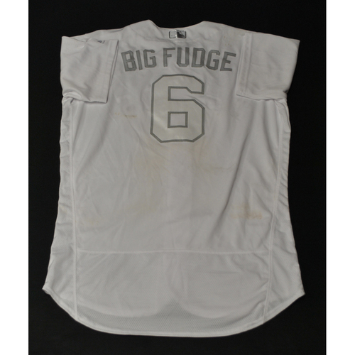 "Photo of Jake ""BIG FUDGE"" Marisnick Houston Astros Game-Used 2019 Players' Weekend Jersey"