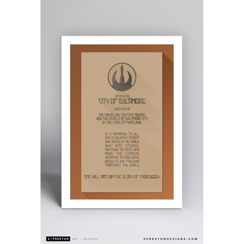 Photo of Memorial Stadium - Minimalist Ballpark Art Print by S. Preston  - Baltimore Orioles