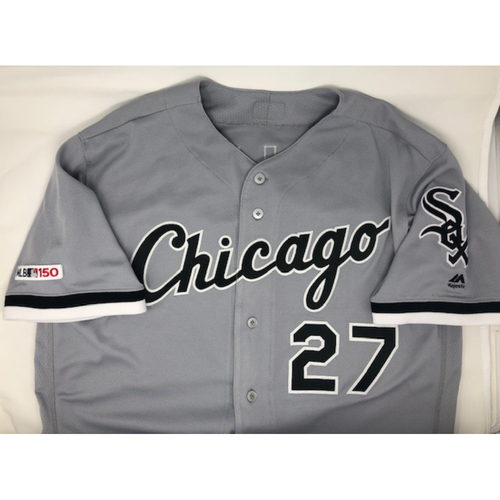 Photo of Lucas Giolito 2019 Team Issued Grey Road Jersey
