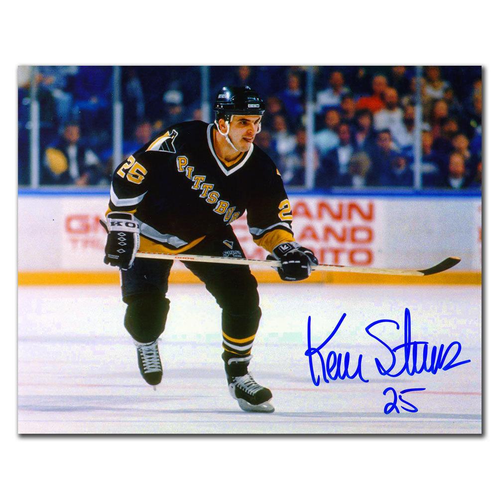 Kevin Stevens Pittsburgh Penguins BREAKOUT Autographed 8x10