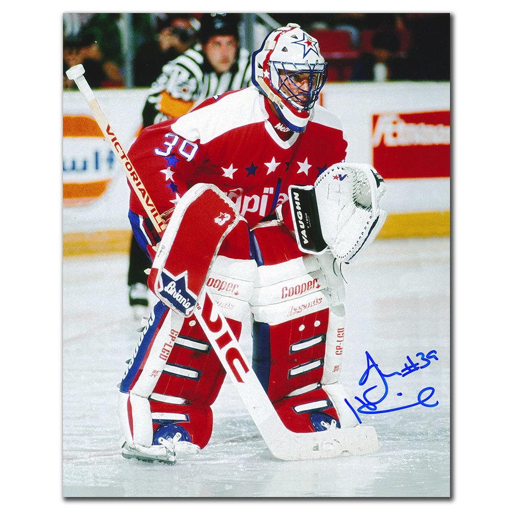 Jim Hrivnak Washington Capitals ACTION Autographed 8x10