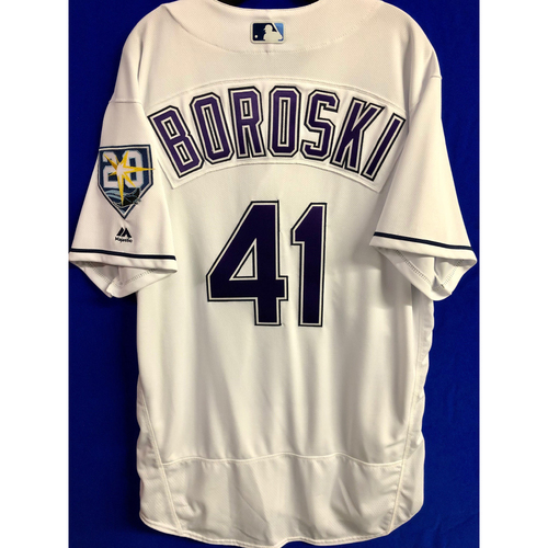 Photo of Team Issued 20th Anniversary Devil Rays Jersey: Stan Boroski