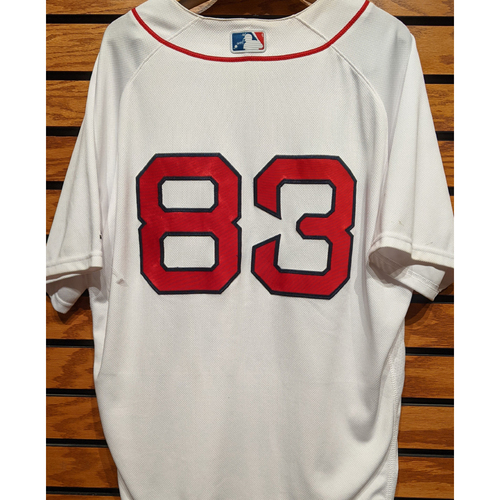 Photo of Aneury Tavarez #83 Team Issued Home White Jersey