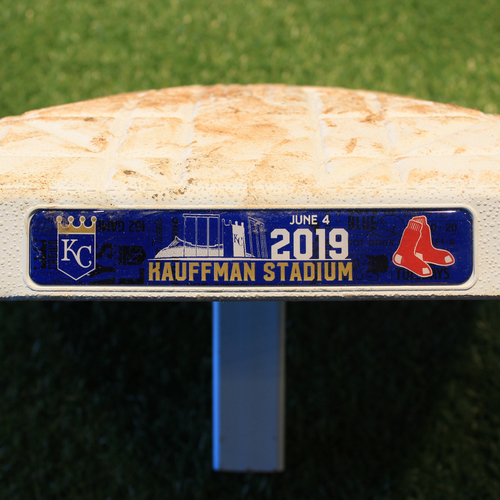 Photo of Game-Used Base: 1st Base, Innings 6-9 (BOS @ KC 6/4/19)