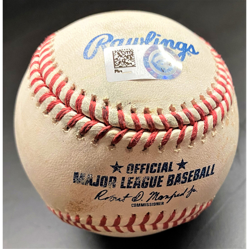 Photo of Game-Used Baseball:  Javier Baez Chicago Cubs Single (MLB AUTHENTICATED)