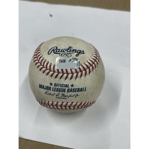 Photo of Game Used Baseball - Grayson Greiner Home Run against Logan Allen. 8-23-2020 Tigers at Indians