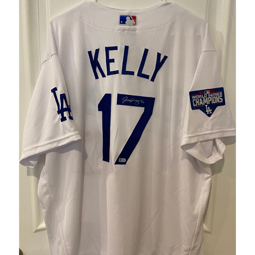 Photo of Joe Kelly Autographed Authentic Los Angeles Dodgers Jersey