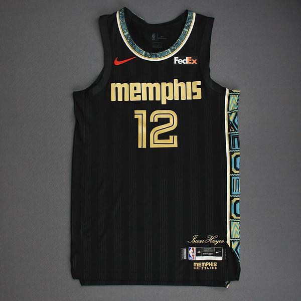 Image of Ja Morant - Memphis Grizzlies - Game-Worn City Edition Jersey - Scored 26 Points - 2021 NBA Playoffs