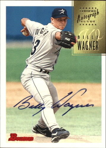 Photo of 1997 Bowman Certified Black Ink Autographs #CA81 Billy Wagner