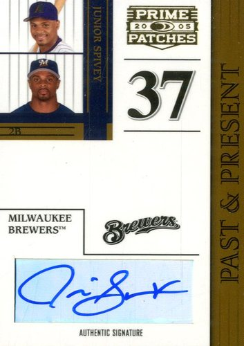 Photo of 2005 Prime Patches Past and Present Autograph #10 Junior Spivey T5