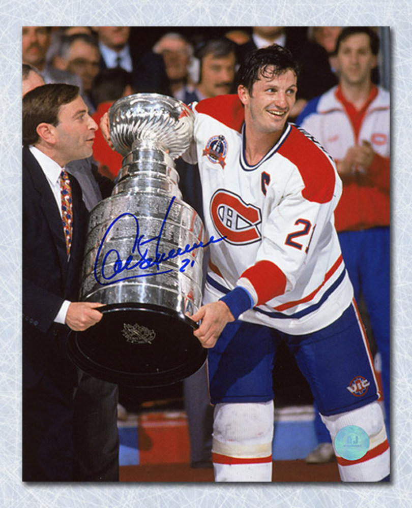 Guy Carbonneau Montreal Canadiens Autographed 1993 Stanley Cup 8x10 Photo