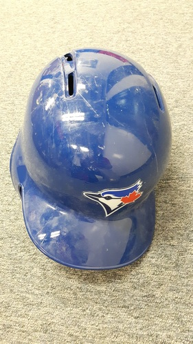 Photo of Authenticated Game Used 2016 Postseason Helmet - #21 Michael Saunders. Size 7 1/4