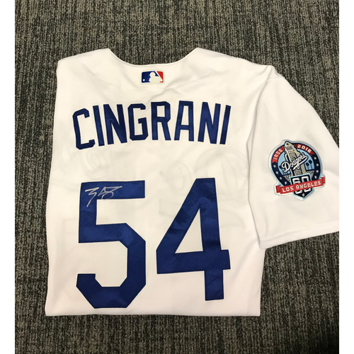 Photo of Kirk Gibson Foundation Auction: Tony Cingrani 2018 Game-Used Autographed Los Angeles Dodger Jersey