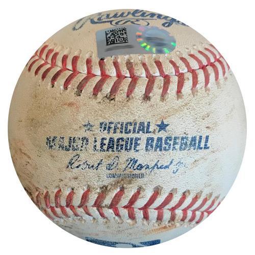 Photo of Game-Used Baseball from Pirates vs. Cardinals on 8/5/18 - Kela Strikes Out Gyorko and Wong