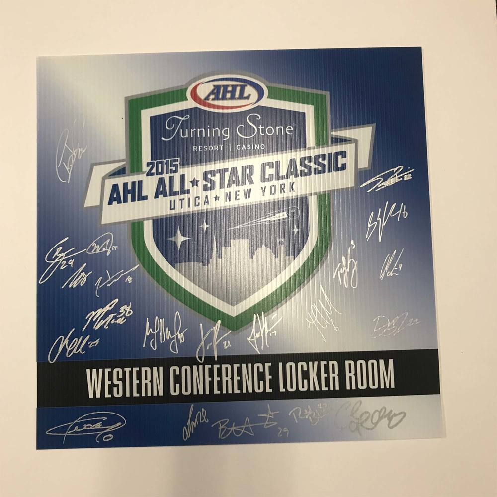 2015 Western Confrence Team Signed Event Sign
