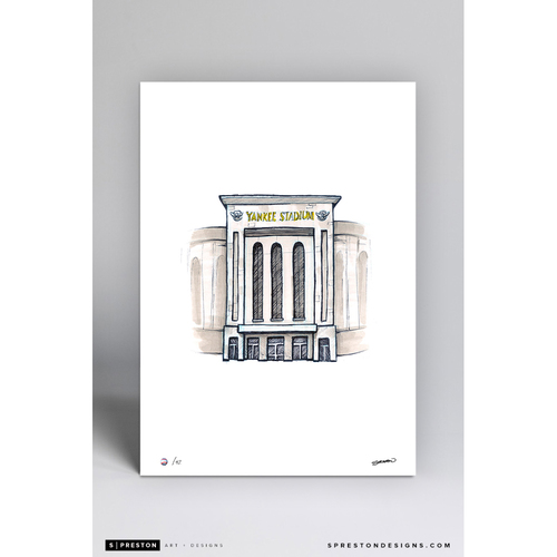 Photo of Yankee Stadium Sketch - Limited Edition Print 3/42 by S. Preston