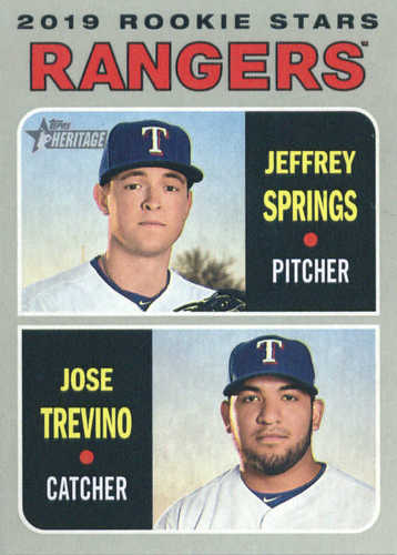 Photo of 2019 Topps Heritage #317 Jeffrey Springs RC/Jose Trevino RC