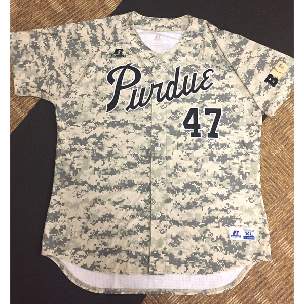 Photo of Purdue Baseball #47 Camo Game-Worn Jersey
