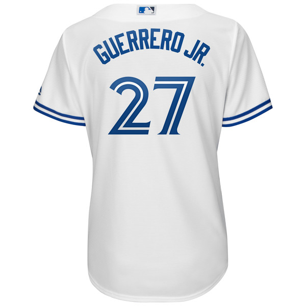 4b9ef1e9d10 Toronto Blue Jays Women s Replica Vladimir Guerrero Jr. Home Jersey by  Majestic