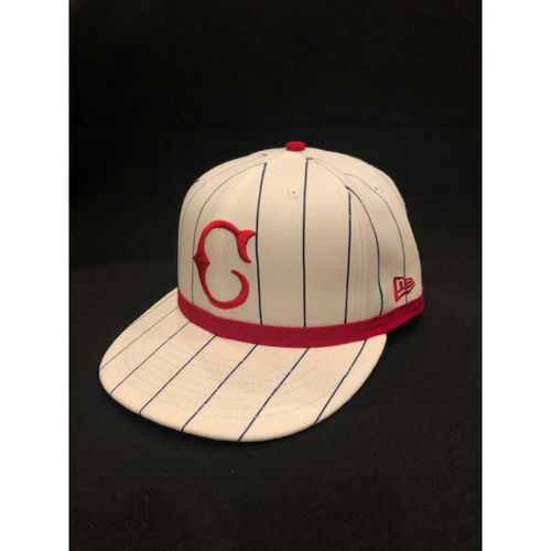 Photo of Jeff Pickler -- Game-Used Cap -- 1919 Throwback Game -- Nationals vs. Reds on June 2, 2019 -- Size 7 1/4
