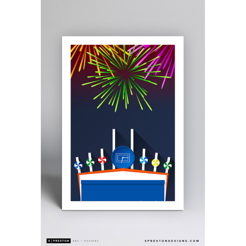 Photo of Comiskey Park - Minimalist Ballpark Art Print by S. Preston  - Chicago White Sox