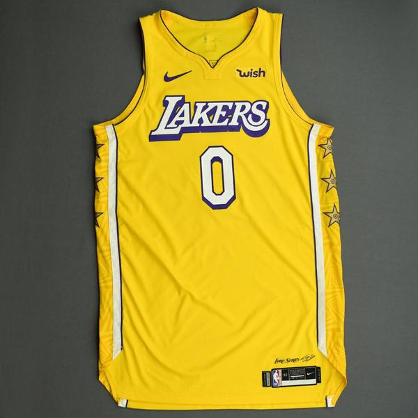Image of Kyle Kuzma - Los Angeles Lakers - Christmas Day' 19 - Game-Worn City Edition Jersey - Scored Team-High 25 Points