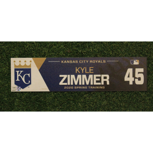 Photo of Game-Used Spring Training Locker Tag: Kyle Zimmer #45