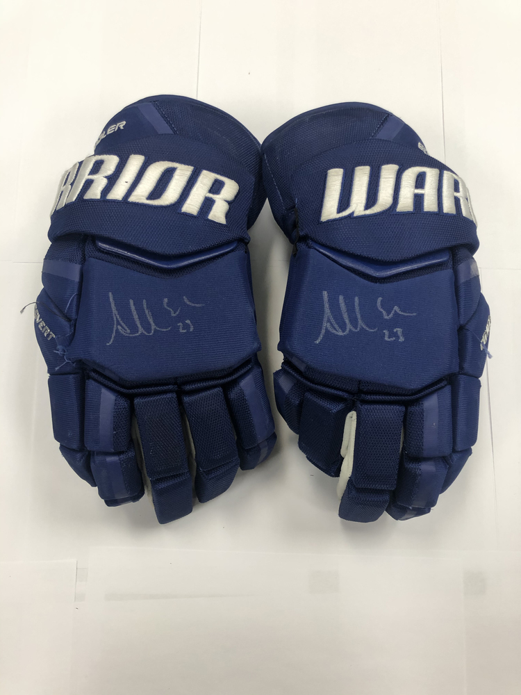 #23 Alex Edler Game Used Autographed Gloves - Vancouver Canucks
