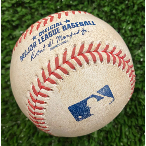 Photo of Nick Senzel Game Used Hit Single Baseball, Max Fried pitched- September 30, 2020 - Wild Card Game 1
