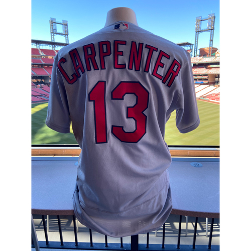 Photo of Cardinals Authentics: Game-Used Matt Carpenter Road Grey Jersey *Grand Slam August 19,2020*