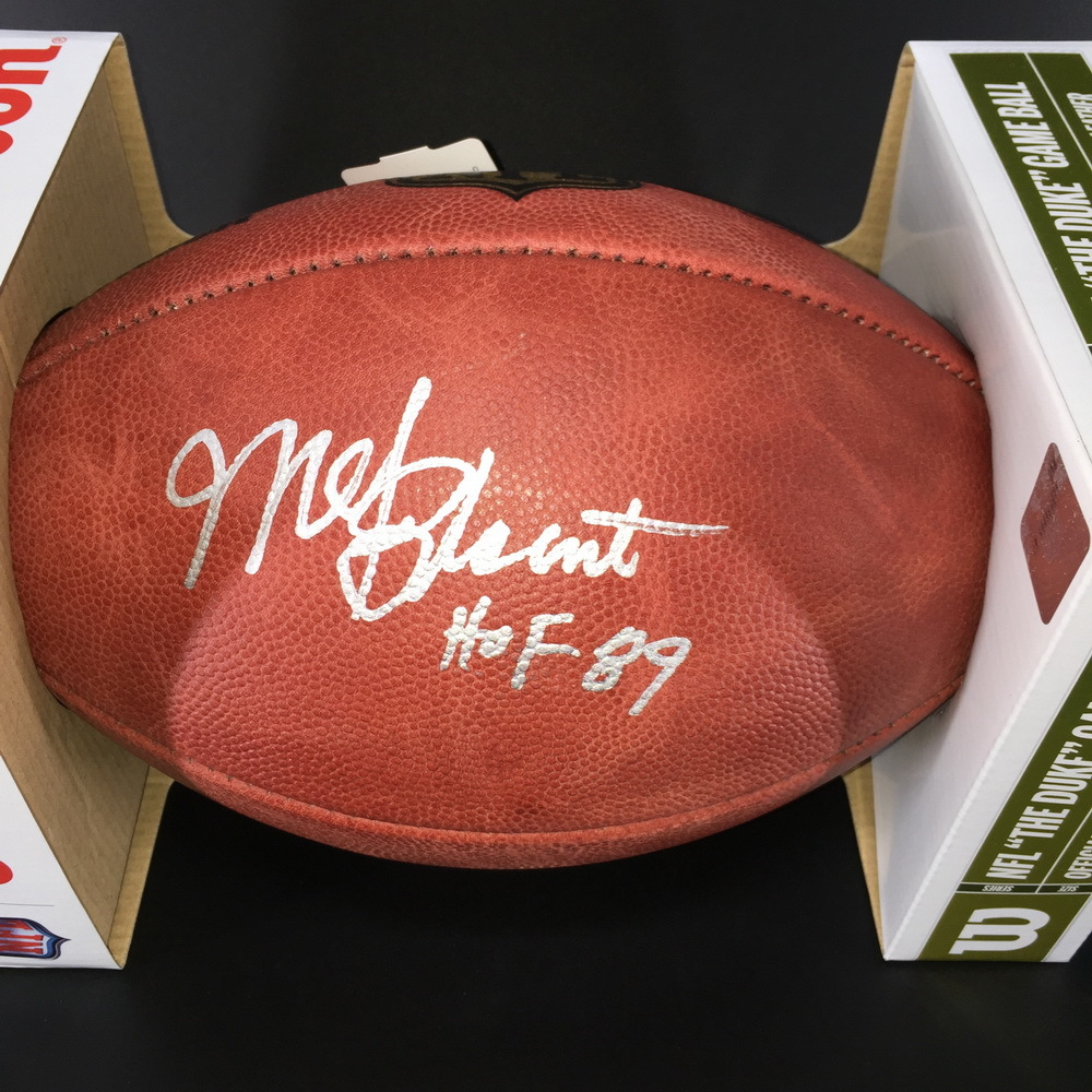HOF - Steelers Mel Blount Signed Authentic Football