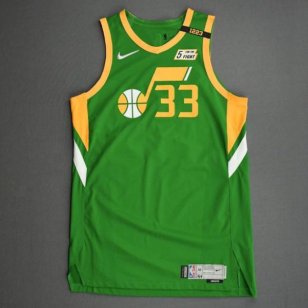 Image of Elijah Hughes - Utah Jazz - Game-Worn Earned Edition Jersey - 2020-21 NBA Season