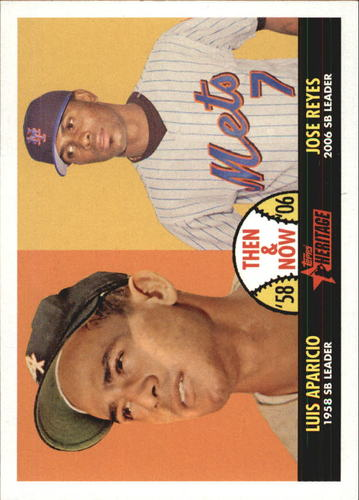 Photo of 2007 Topps Heritage Then and Now #TN4 Luis Aparicio/Jose Reyes