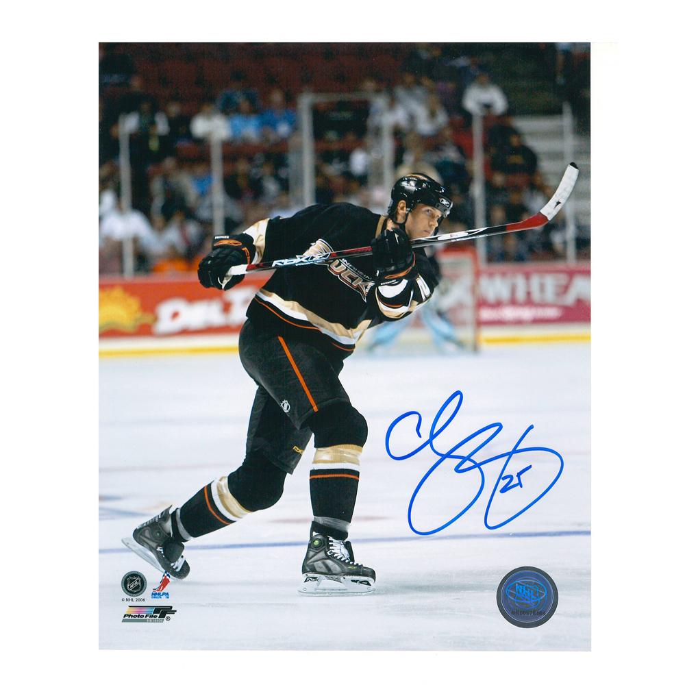 CHRIS PRONGER Signed Anaheim Ducks 8 X 10 Photo - 70413